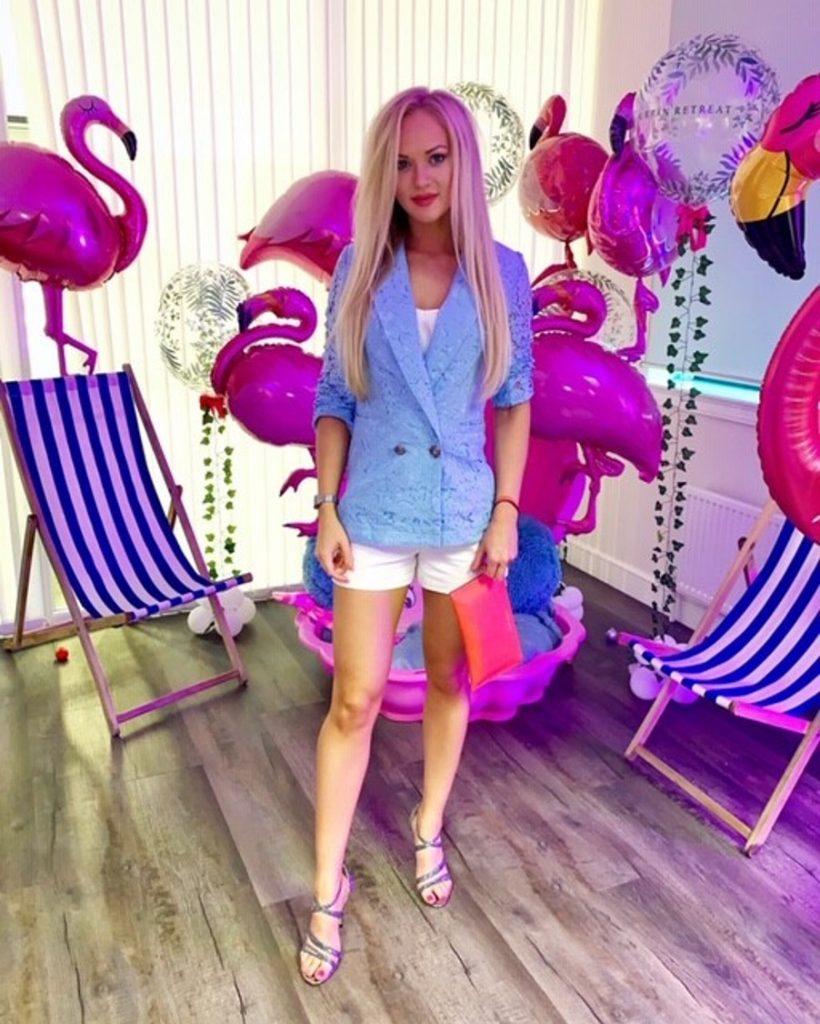 Baby blue blazer summer style