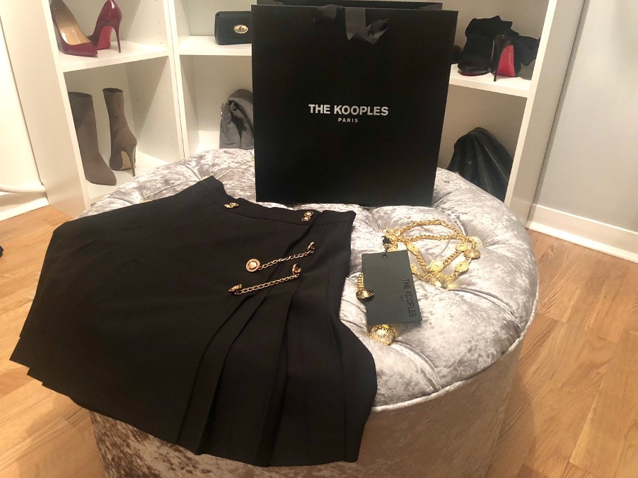 Kilt, belt and shopping bag bought in the January Sales from The Kooples