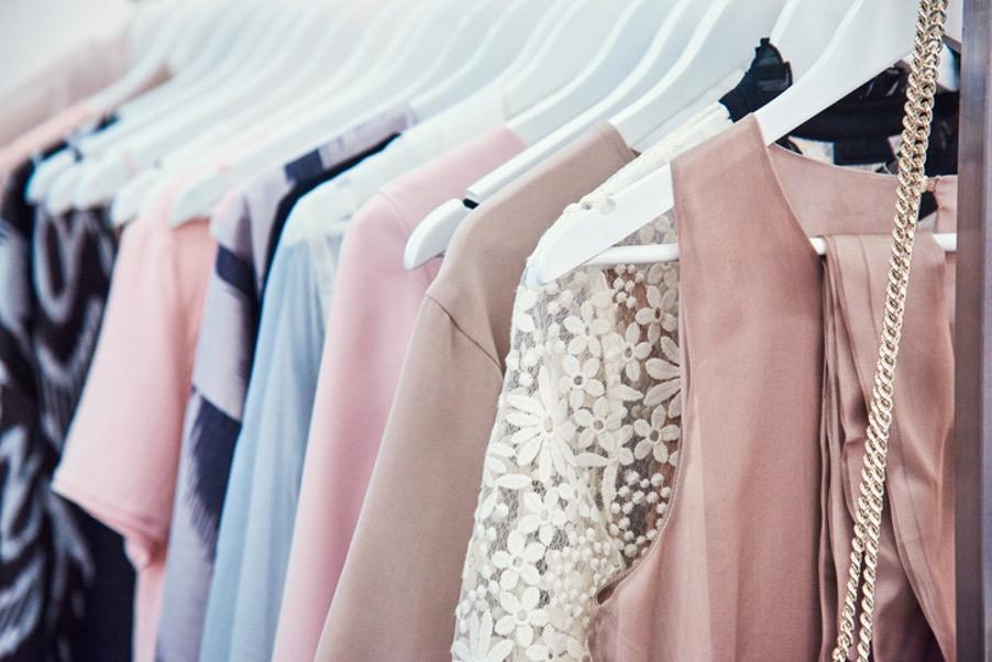 well organised closet