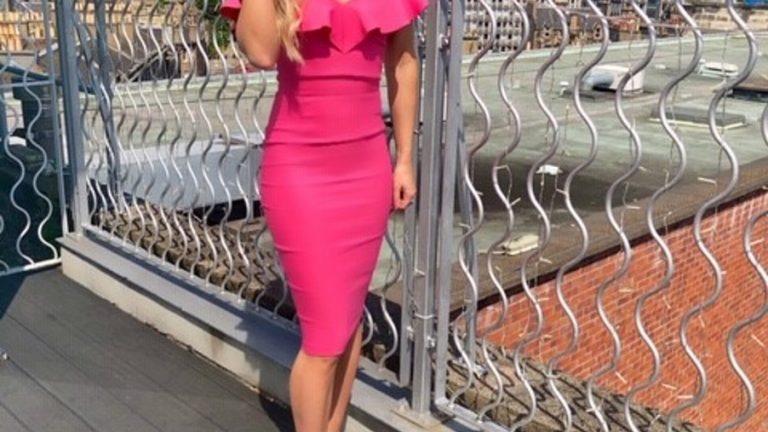 Fuchsia dress for summer style
