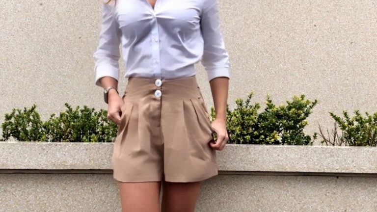 tailored shorts workwear outfit