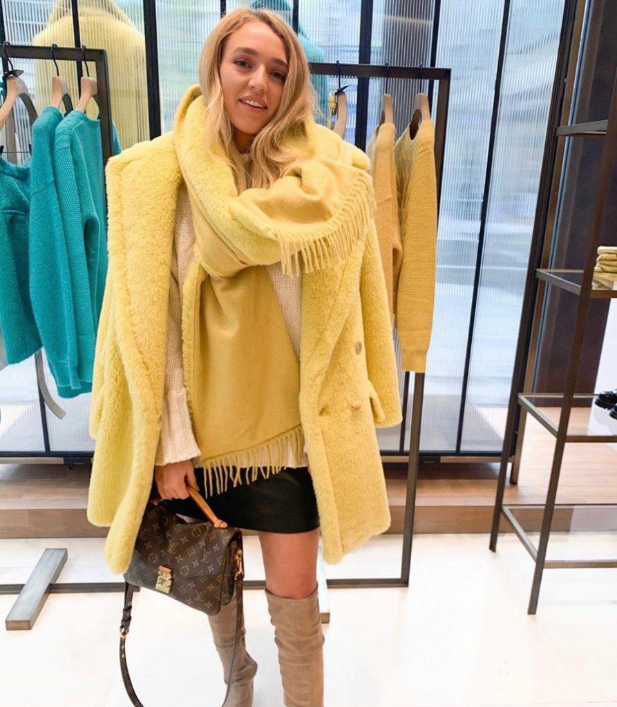yellow teddy coat