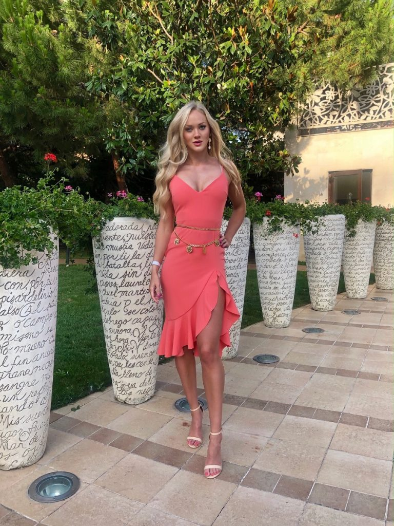 isawitfirst coral dress holiday style