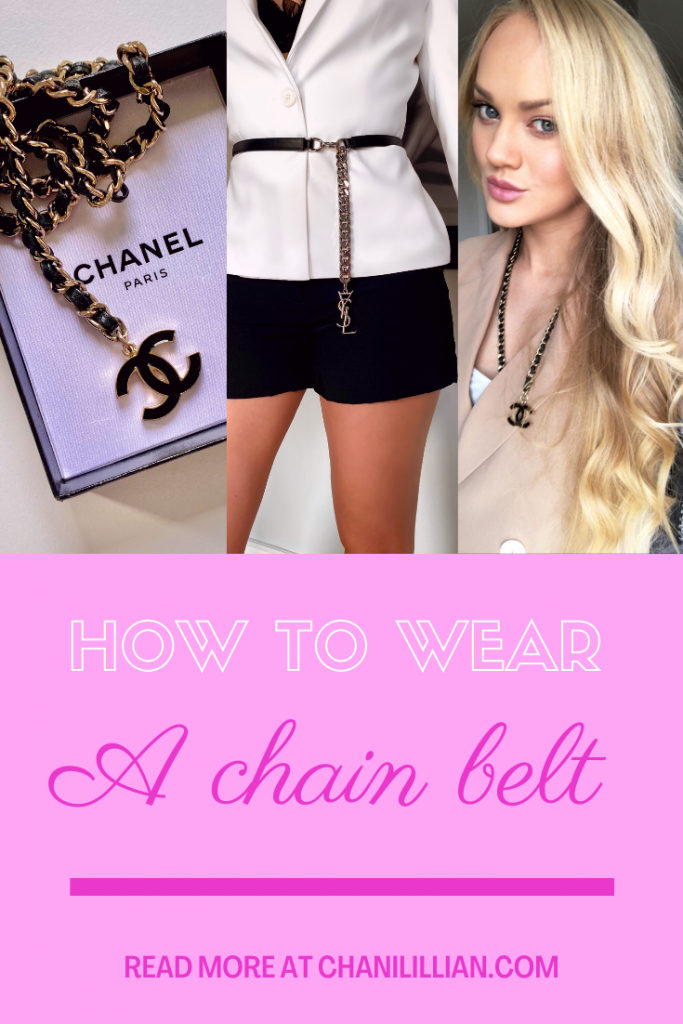 How to Wear a Chain Belt Pinterest image