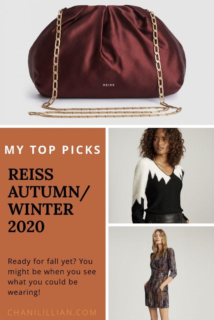 Reiss Autumn/Winter 2020 Pinterest Pin