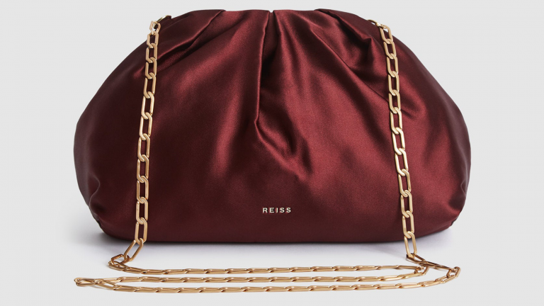 Red Satin Bag from Reiss Autumn/Winter 2020 collection