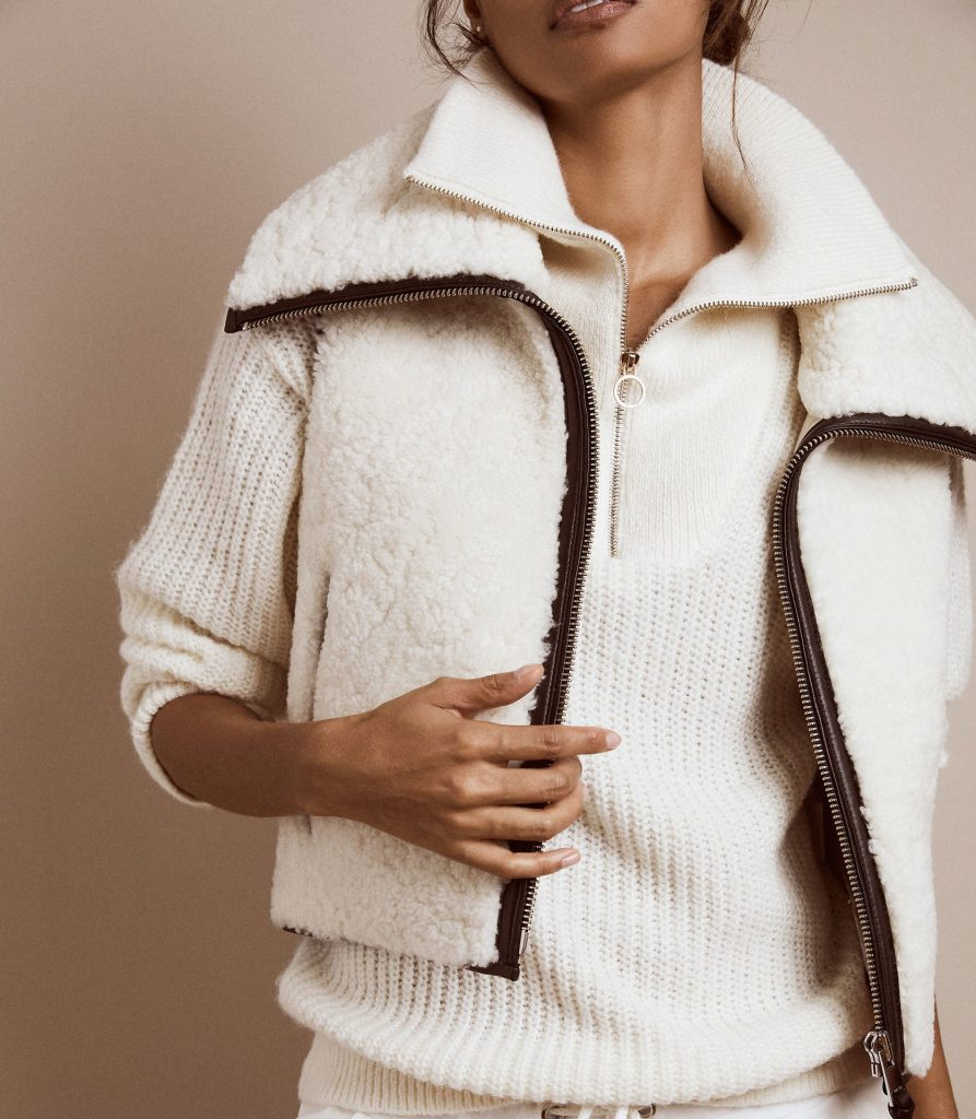 Reiss Autumn/Winter 2020 Super soft shearling gilet