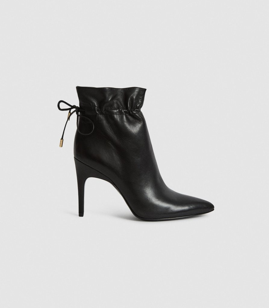 Reiss Autumn/Winter 2020 drawstring leather boots