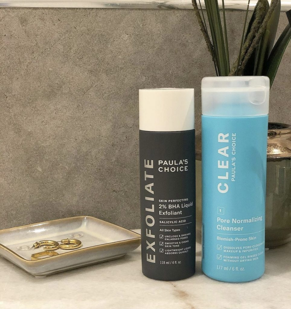 Paula's choice 2% BHA Liquid exfoliant for maskne treatment