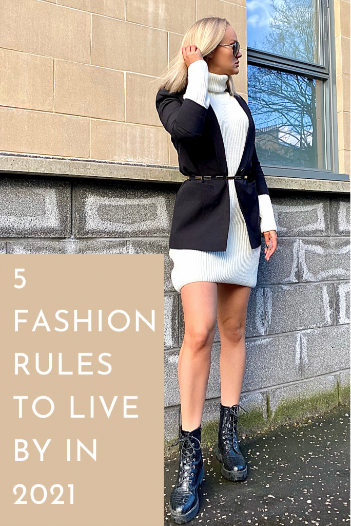 Pinterest Pin for article 'rules for fashion in 2021'.